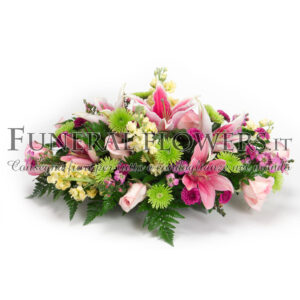 Cuscino funebre di fiori rosa